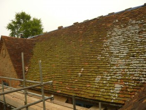 Listed Graded Building Roofing Project Before Tile Replacement